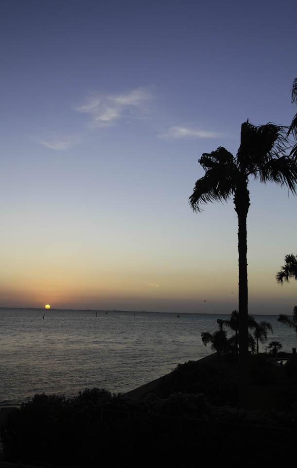 sunset Galveston Bay