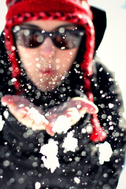blow a snow kiss
