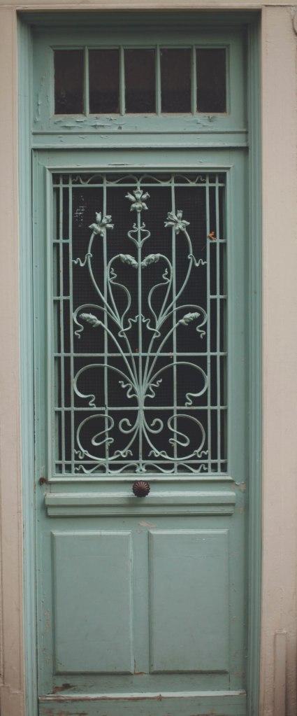Paris teal door