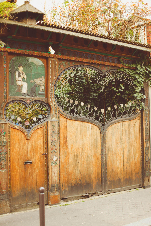 Paris exterior heart doors