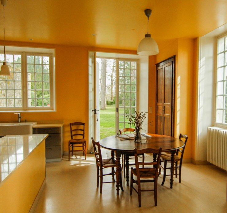 french manor house kitchen