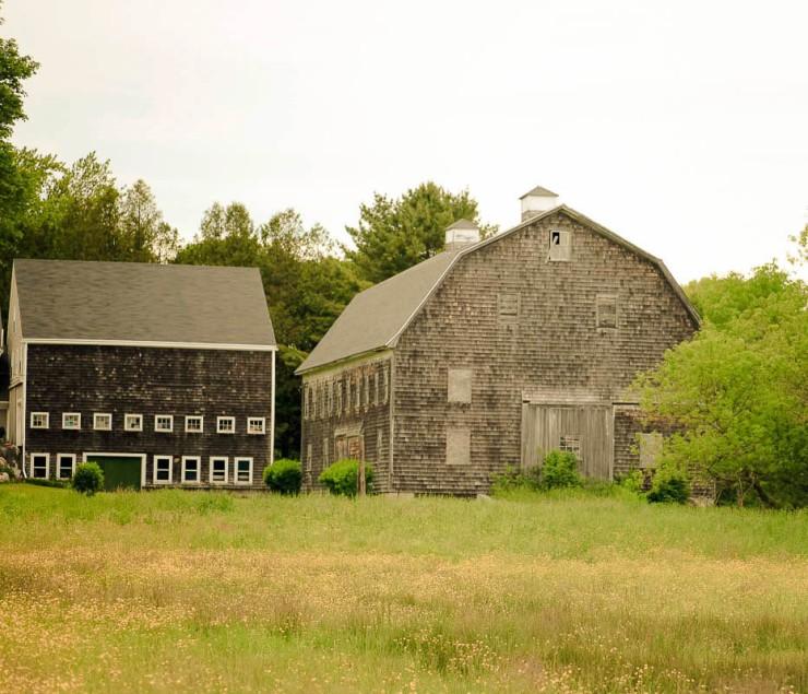 Maine farm and barn
