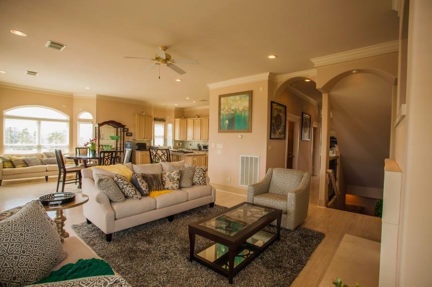 Coastal Texas Home Livingroom