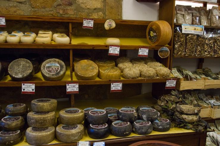 Italian cheese Pienza Italy